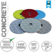 Stadea Diamond Polishing Pads 3-Step for Concrete Travertine Terrazzo Countertop Floor Edges Wet Dry Polishing, Series Super C
