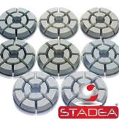 "Stadea Diamond Floor Polishing Pad - Dry Pads 7 Step - Concrete Floor Polishing - 3"", 4"" - Series Super C"