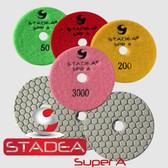 "Stadea 3"" Dry Diamond Polishing Pads Granite Marble Concrete Polishing, Series Super A"