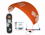 New -HQ4 Rush Pro 350 | Trainer Kite  | Learn Kiteboarding kite skills