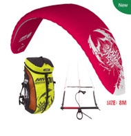 HQ Montana IX Snow kiting Package. Ready to fly.