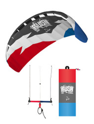 HQ Rush 300 V School 4-Line Trainer Kite | Snowkite | Free DVD or Wind Meter