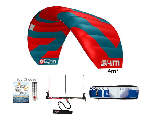 Skim 4m Water relaunch Kiteboarding 3-Line Trainer Kite