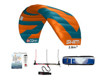 Peter Lynn Skim 2.8m Kiteboarding Trainer Kite For Water, Land, & Snow