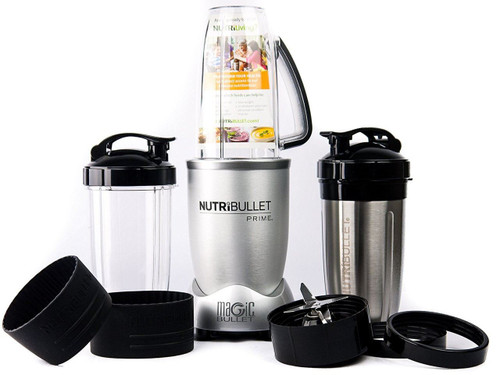 NutriBullet PRIME 12-Piece High-Speed Blender/Mixer System Stainless Steel Cup, Silver