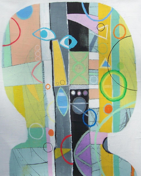 """Acrylic and Oil Pastel on Canvas.  Gallery Wrapped.  30 x 24"""""""