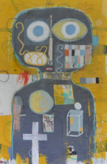 """Acrylic, Oil, Oil Stick, Pastel and Colored Pencil on Canvas.  Gallery Wrapped.  36 x 24"""""""