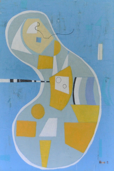 """Acrylic, Oil Stick and Pencil on Canvas.  Unframed.  36 x 24"""""""