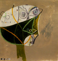 "Goober - Mixed Media on Canvas Panel, 11 1/4 x 11 7/8"""