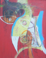 """The Old Man - Mixed Media on Canvas - Framed, 21 x 17"""""""