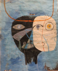"""My Thoughts Convince Me - Mixed Media on Canvas Panel, 17 3/4 x 21 3/4"""""""