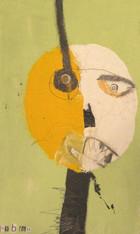 "No Pretties - Mixed Media on Canvas Panel, 9 1/2 x 16"""