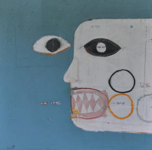 "Acrylic & Oil Stick.  Unframed.  24 x 24"""
