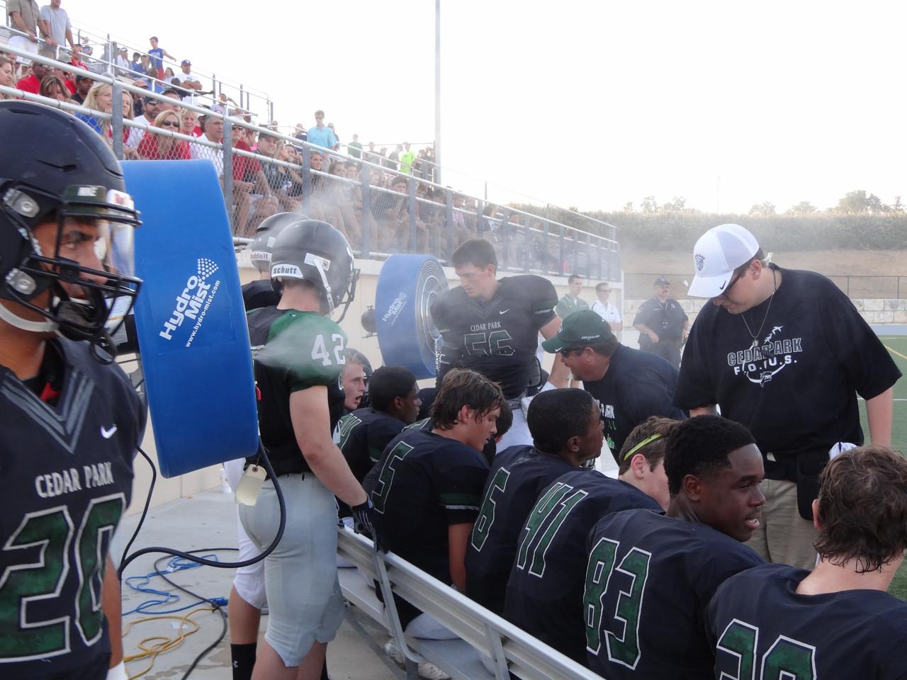 NFL Sideline Misting Fans Now Affordable for High School Football Budgets