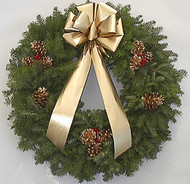 Deluxe Gold Balsam Christmas Wreath
