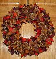 Fall Cone Wreath
