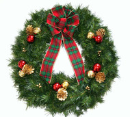 High Quality Gold Artificial Pine Wreath