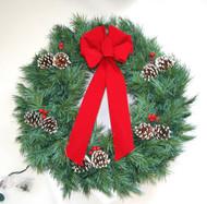 Mountain Pine Prelit Wreath
