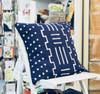 Throw/Sofa Pillows | Indigo Blue | Mudcloth Design