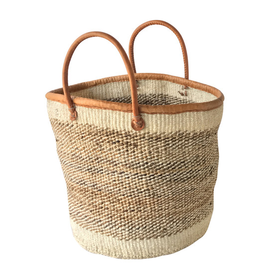 Kiondo Basket - Natural & Banana Stem | Large - Shopper, Storage, Decor