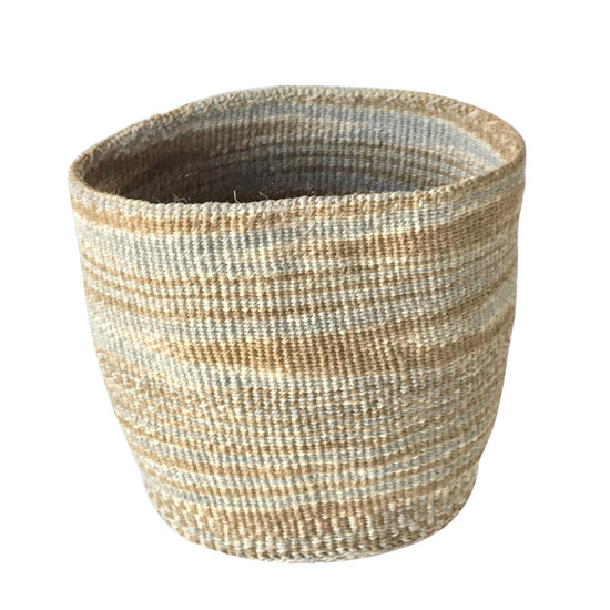 Kiondo Basket - Brown & Grey | Medium - 10""