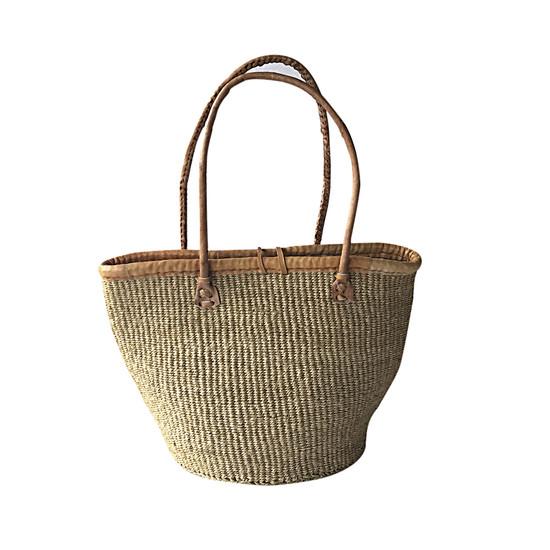 "Kiondo Basket Bag - Natural   Medium - 10"""