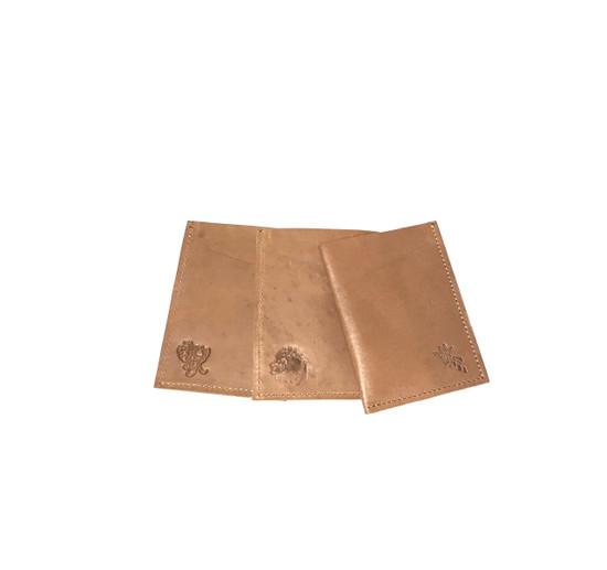 Genuine Leather Handmade Card Holder | Men's Wallet - Light Brown