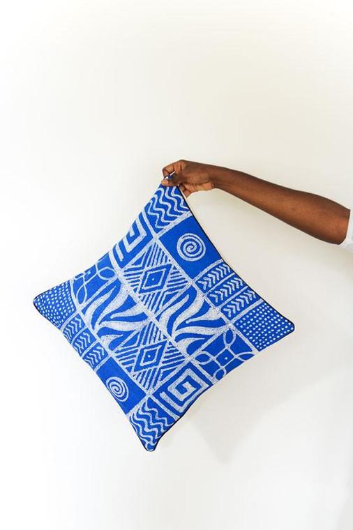 Throw/Sofa Pillows | Blue | Geometric Design
