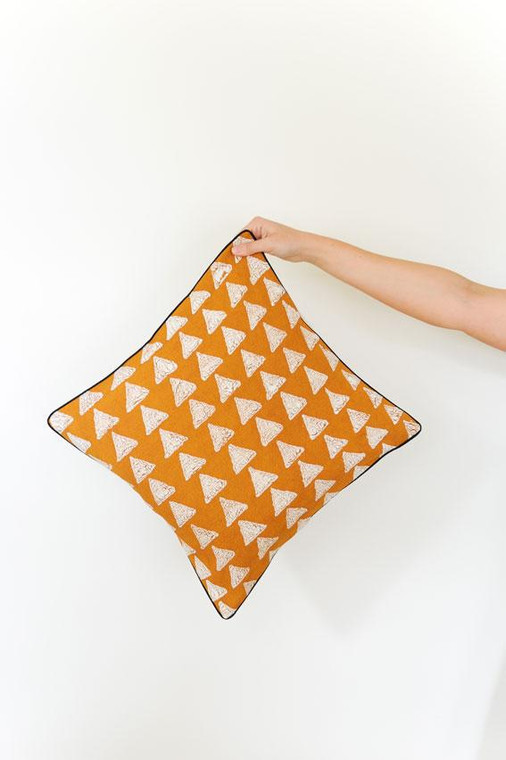Throw/Sofa Pillows | Rust Caramel | Mudcloth Design