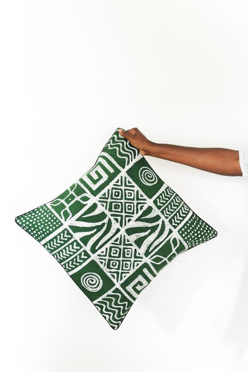 Throw/Sofa Pillows | Green | Mudcloth Design