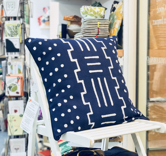 Throw/Sofa Pillows | Indigo Blue | Mudcloth Design