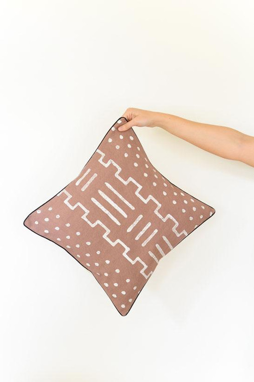 Throw/Sofa Pillows | Taupe | Mudcloth Design