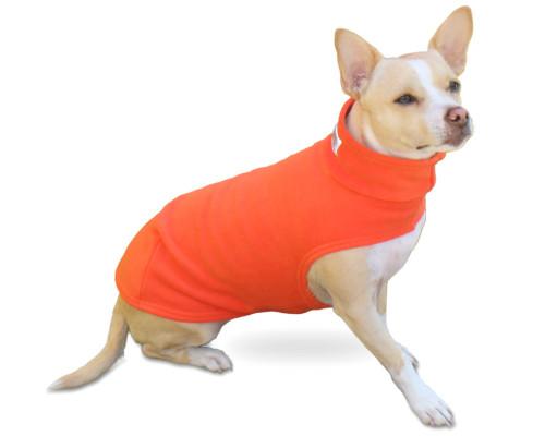 Foxy Orange Thick Quality Fleece Dog Coat