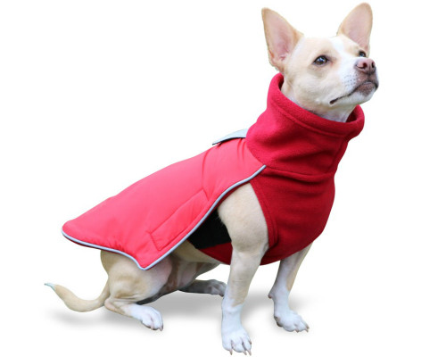 Quality Dog Coat with Reflective Harness Opening