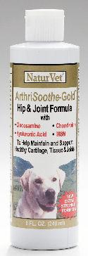 NaturVet - Arthrisoothe Gold Liquid, NEW EXTRA STRENGTH FORMULA.