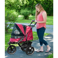 Pet Gear - No-Zip AT3 Pet Stroller, Zipperless Entry