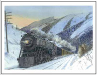 NP 2673 entering Bozeman MT Winter Cards