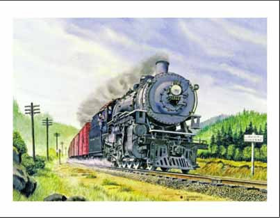 NP 1745 on Getchell Hill WA Note Cards