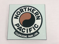 Northern Pacific 8-inch Square Yellowstone Park Monad Sign