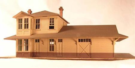HO-Scale NP 2-Story Depot