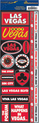 Passports Collection Las Vegas Cardstock Stickers by Reminisce
