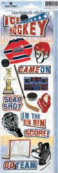Hockey Collection Ice Hockey 2 Cardstock Stickers by Paper House Productions