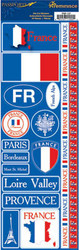 Passports Collection France Self-Adhesive Sticker Sheet by Reminisce