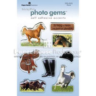 Horse Photo Epoxy Gem Stickers by Paper House Productions