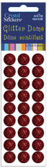 Red 10mm Glitter Dome Stickers by Mark Richards USA