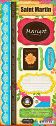Paradise Collection Saint Martin Cardstock Sticker Sheet by Scrapbook Customs