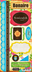 Paradise Collection Bonaire Cardstock Sticker Sheet by Scrapbook Customs