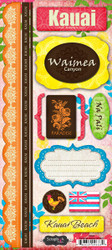 Kauai Paradise Collection Cardstock Sticker Sheet by Scrapbook Customs