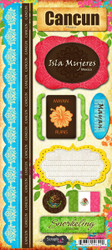 Cancun Paradise Collection Cardstock Sticker Sheet by Scrapbook Customs