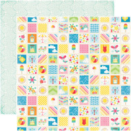 I Love Sunshine Collection Summer Memories Double-Sided 12 x 12 Scrapbook Paper by Echo Park Paper